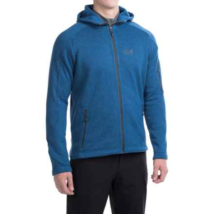 Jack Wolfskin Caribou Lodge Hooded Fleece Jacket (For Men) in Classic Blue - Closeouts