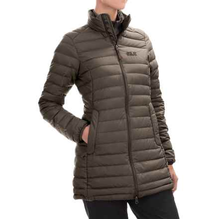 Jack Wolfskin Carmanville Down Coat - 700 Fill Power (For Women) in Siltstone - Closeouts