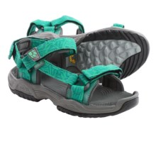Jack Wolfskin Coastal Pass Sport Sandals (For Women) in Green Lake - Closeouts