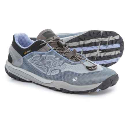 Jack Wolfskin Crosstrail Shield Low Trail Running Shoes (For Women) in Grey Haze - Closeouts