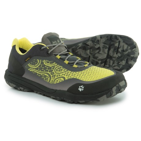 Jack Wolfskin Crosstrail Texapore Low Trail Running Shoes - Waterproof (For Men) in Flashing Green