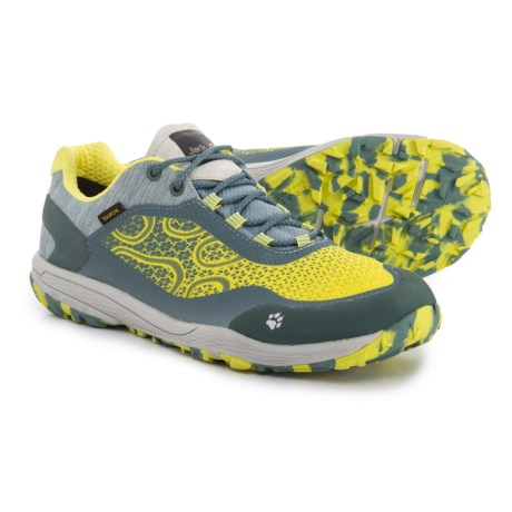 Jack Wolfskin Crosstrail Texapore Low Trail Running Shoes - Waterproof (For Women) in Bright Absinth