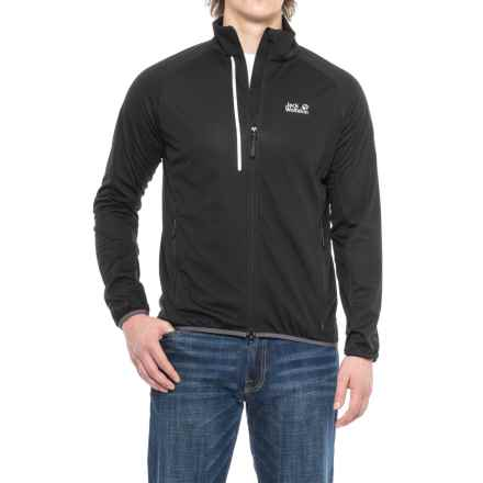 Jack Wolfskin Cusco Trail Soft Shell Jacket - Windproof (For Men) in Black - Closeouts