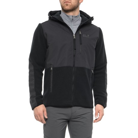 uk availability various design attractive price Jack Wolfskin Dawson Hooded Fleece Jacket (For Men) - Save 46%