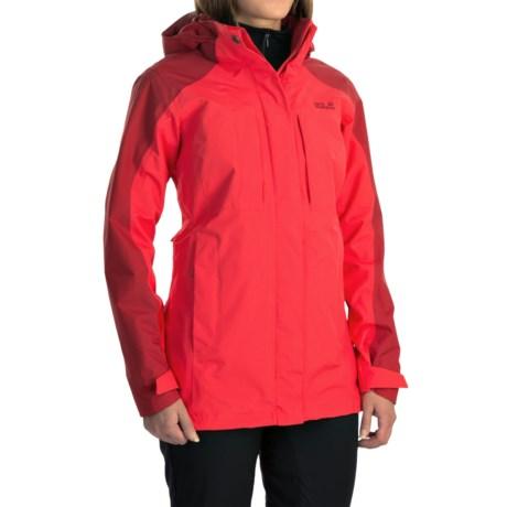 Jack Wolfskin Denali Flex Jacket - Waterproof (For Women) in Hibiscus Red