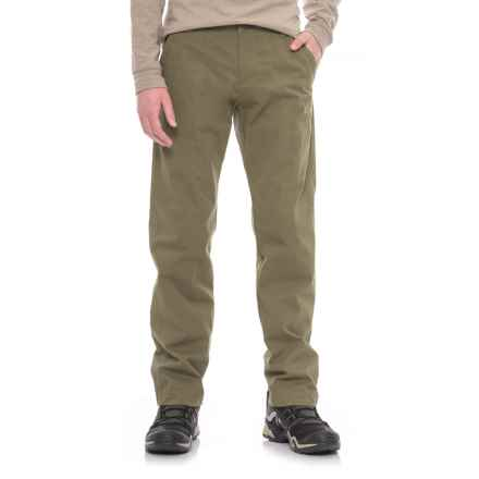 Jack Wolfskin Drake Pants - Organic Cotton (For Men) in Burnt Olive - Closeouts