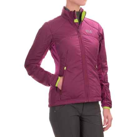 Jack Wolfskin Exhalation Microstretch Jacket - Insulated (For Women) in Wild Berry - Closeouts