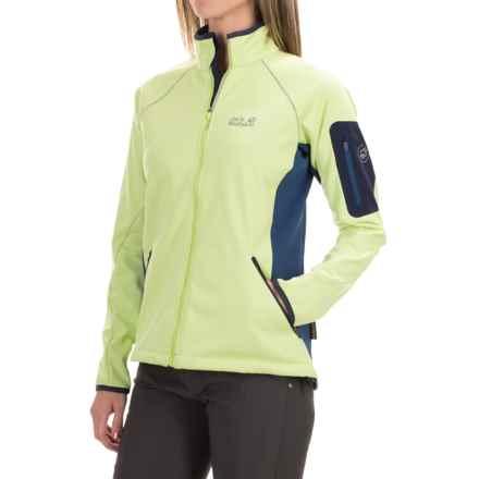 Jack Wolfskin Exhalation Soft Shell XT Jacket (For Women) in Sharp Green - Closeouts