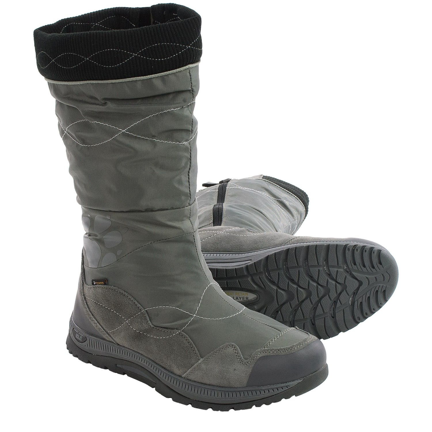 jack wolfskin fairbanks texapore snow boots waterproof insulated for women in dark steel. Black Bedroom Furniture Sets. Home Design Ideas