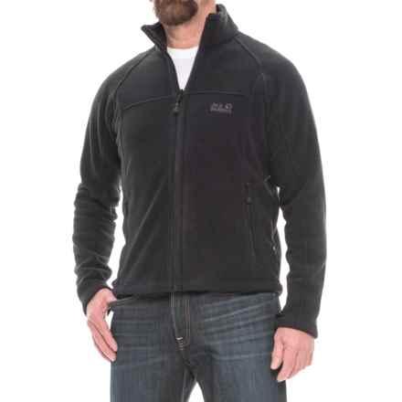 Jack Wolfskin Feelgood Fleece Jacket - Full Zip (For Men) in Black - Closeouts
