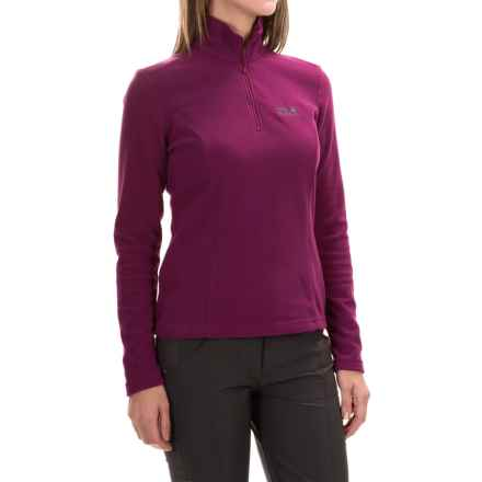 Jack Wolfskin Gecko Fleece Jacket - Zip Neck  (For Women) in Wild Berry - Closeouts