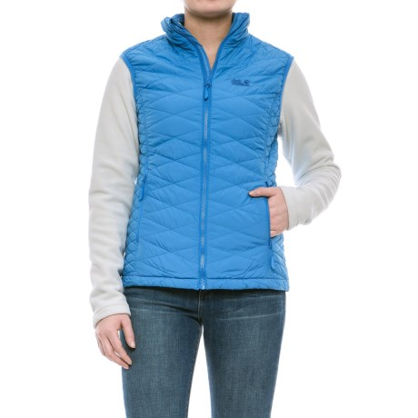 Jack Wolfskin Glen Dale Vest and Liner Jacket - 3-in-1, Insulated (For Women) in Wave Blue