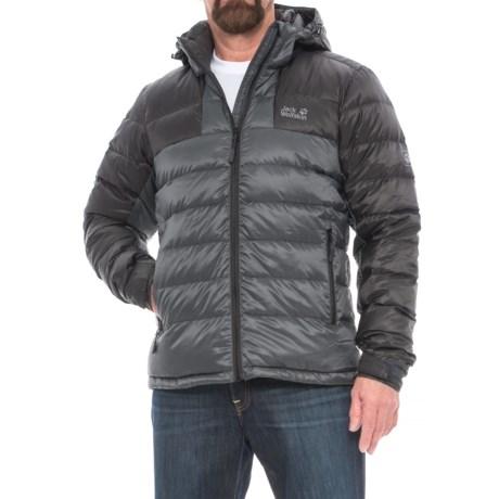 Jack Wolfskin Greenland Down Jacket - 700 Fill Power (For Men) in Ebony