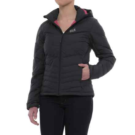 Jack Wolfskin Greenland Down Jacket - 700 Fill Power (For Women) in Ebony - Closeouts