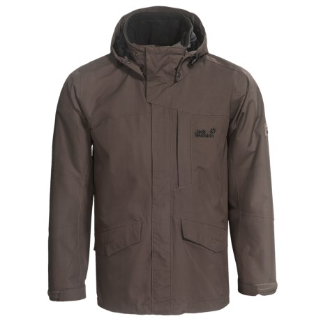 Jack Wolfskin Hampton Jacket - Waterproof (For Men) in Olive Brown