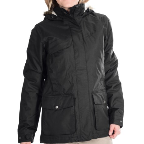 Jack Wolfskin Kelowna Texapore Parka Waterproof, Insulated (For Women)
