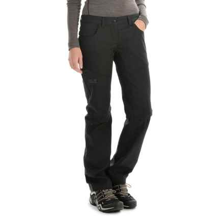 Jack Wolfskin Manitoba Soft Shell Pants (For Women) in Black - Closeouts