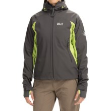 Jack Wolfskin Nucleon Soft Shell Jacket (For Women) in Dark Steel - Closeouts