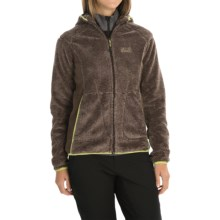 Jack Wolfskin Pine Cone Hooded Jacket - Fleece (For Women) in Mocca Stripes - Closeouts