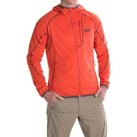Jack Wolfskin Rock Sill Fleece Jacket - Hooded (For Men) in Bright Pumpkin - Closeouts