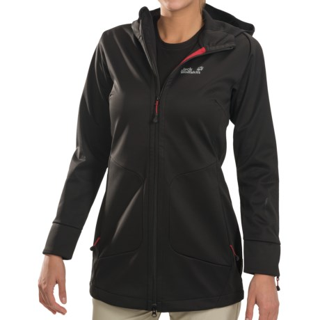 Jack Wolfskin Rockin' Rose Soft Shell Coat (For Women) in Black