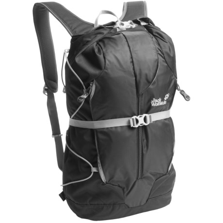 Jack Wolfskin Rollover Backpack in Black
