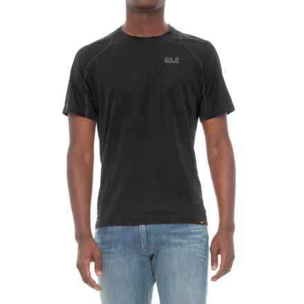 Jack Wolfskin San Diego Beach T-Shirt - Short Sleeve (For Men) in Black - Closeouts