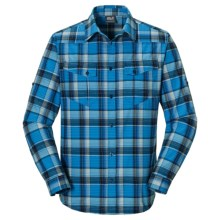 Jack Wolfskin Seal River Flannel Shirt - Long Sleeve (For Men) in Classic Blue Checks - Closeouts