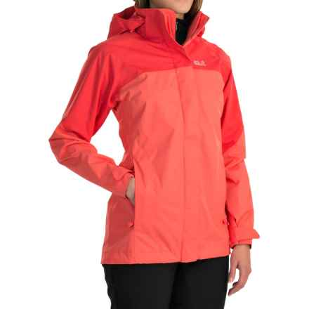 Jack Wolfskin Shelter Texapore Jacket - Waterproof (For Women) in Grapefruit - Closeouts