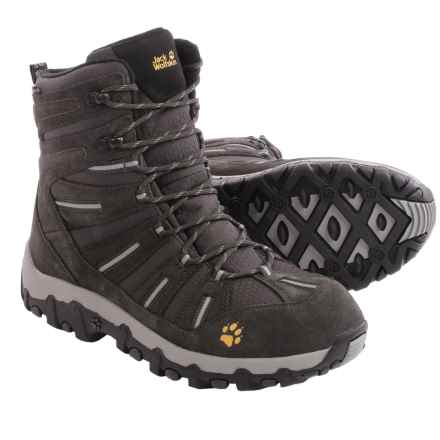 Jack Wolfskin Snow Trekker Texapore Snow Boots - Waterproof (For Men) in Shadow Black - Closeouts
