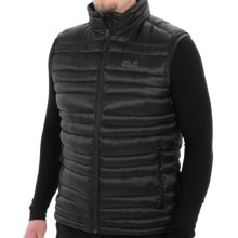 Jack Wolfskin Stratus Vest - 500 Fill Power (For Men) in Dark Steel - Closeouts
