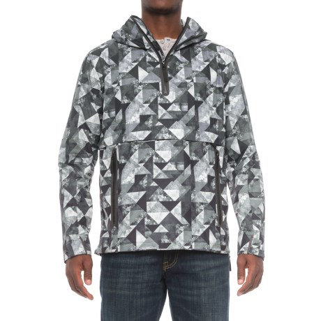Jack Wolfskin Tech Lab Carrara Marble Smock Wind Jacket - Zip Neck (For Men) in Black