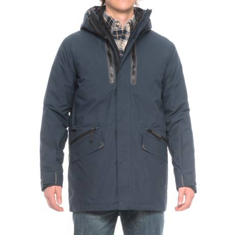 Jack Wolfskin Tech Lab The Shoreditch Jacket - Waterproof, Insulated, 3-in-1 (For Men) in Night Blue