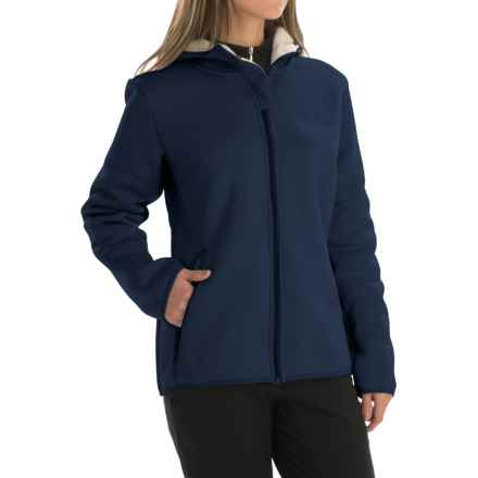 Jack Wolfskin Terra Nova Fleece Jacket - Hooded (For Women) in Night Blue - Closeouts