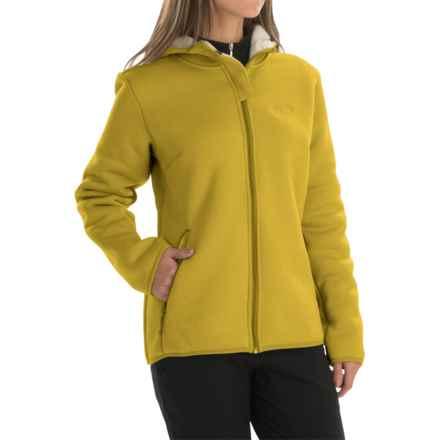 Jack Wolfskin Terra Nova Fleece Jacket - Hooded (For Women) in Yellow Green - Closeouts