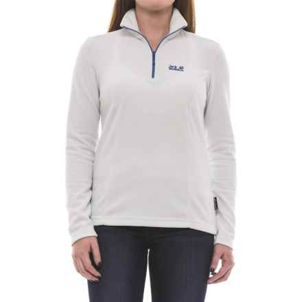 Jack Wolfskin Tokee Fleece Jacket - Zip Neck (For Women) in Grey Haze - Closeouts