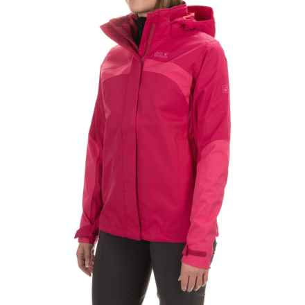 Jack Wolfskin Topaz 2 Texapore Jacket - Waterproof (For Women) in Azalea Red - Closeouts