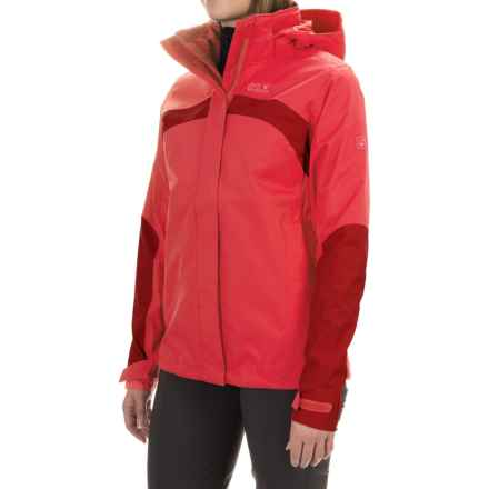 Jack Wolfskin Topaz 2 Texapore Jacket - Waterproof (For Women) in Hibiscus Red - Closeouts