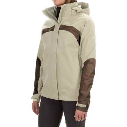 Jack Wolfskin Topaz 2 Texapore Jacket - Waterproof (For Women) in White Sand - Closeouts