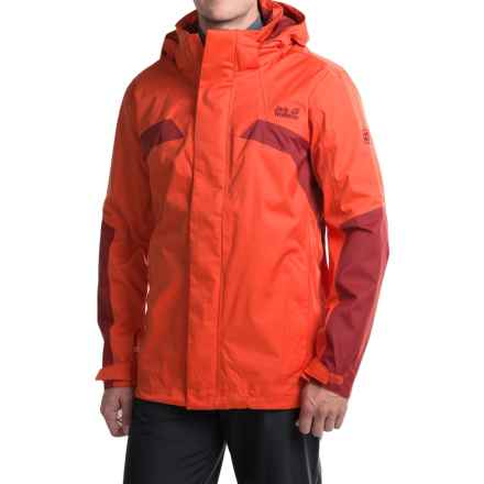 Jack Wolfskin Topaz II Texapore Jacket - Waterproof, Windproof (For Men) in Chili - Closeouts