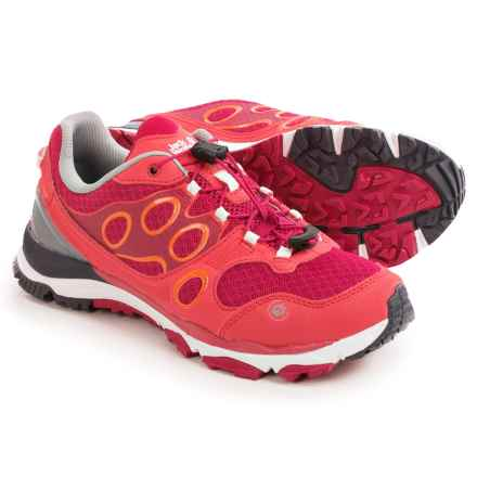Jack Wolfskin Trail Excite Low Trail Running Shoes (For Women) in Azalea Red - Closeouts