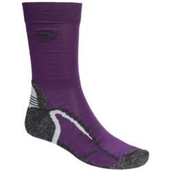 Jack Wolfskin Trekking XT Socks - Crew (For Men and Women) in Purple Night