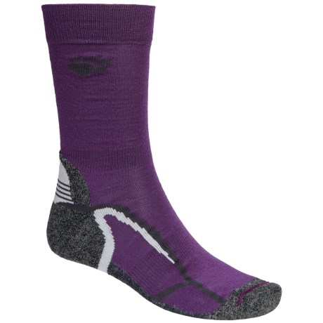 Jack Wolfskin Trekking XT Socks - Crew (For Men and Women) in Purple Night