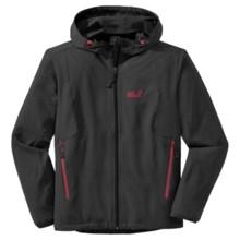Jack Wolfskin Turbulence Soft Shell Jacket - Flex Shield (For Men) in Black - Closeouts
