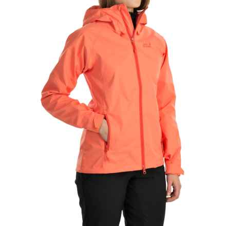 Jack Wolfskin Velican Texapore Air Jacket - Waterproof (For Women) in Watercress Blossom - Closeouts