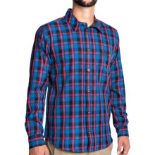 Jack Wolfskin Viewpoint Shirt - Long Sleeve (For Men) in Electric Blue Checks - Closeouts