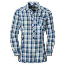 Jack Wolfskin Wichita Shirt - Long Sleeve (For Women) in Classic Blue Checks - Closeouts