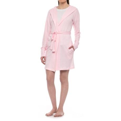 Jaclyn Intimates Hooded Whisper Robe - Long Sleeve (For Women) in Ballerina