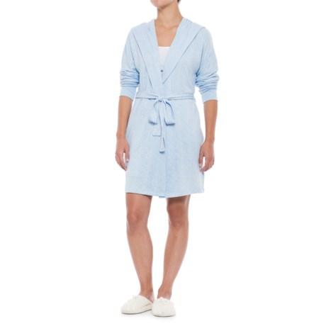 Jaclyn Intimates Jaclyn Dreamwear Whisper Touch Robe - Long Sleeve (For Women) in Chambray Blue
