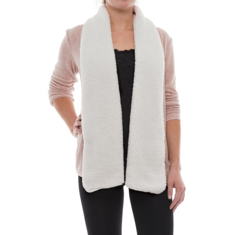 Jaclyn Intimates Sherpa Collar Wrap Shirt - Long Sleeve (For Women) in Oatmeal/Ivory